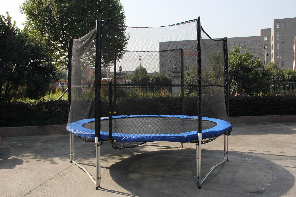 10 Ft Trampoline Enclosure Set Safety Net Ladder