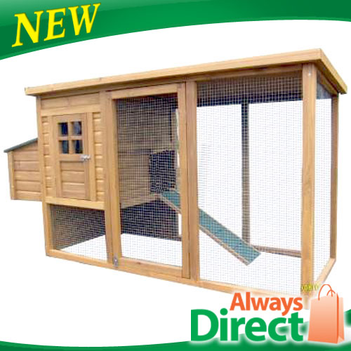 Chicken-Coop-Hen-house-Chook-Rabbit-Hutch-Run-Cage-Nesting-Box