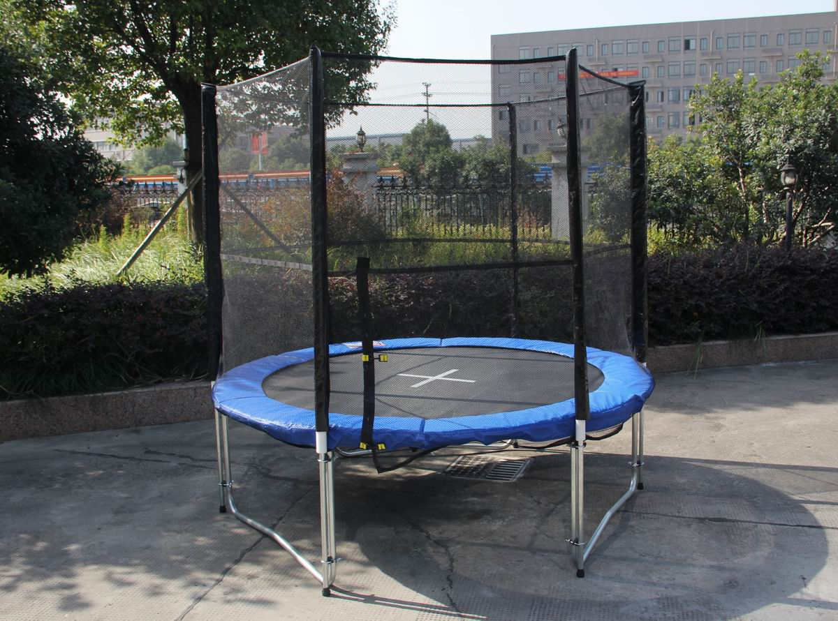 8 Feet Indoor Outdoor Trampoline Enclosure Set With Safety