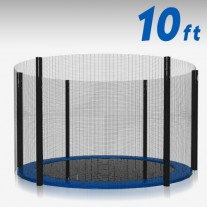 Trampoline Replacement Safety Net 10FT Netting Enclosure 6 Poles
