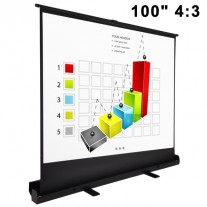 "100"" Pull Up Portable Office Projection Projector Screen (4:3)"