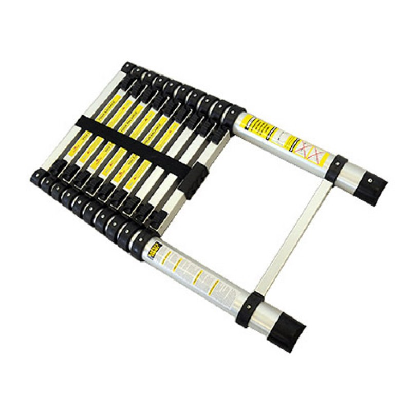 320cm Telescopic Ladder Aluminium Retractable Holds 150kg