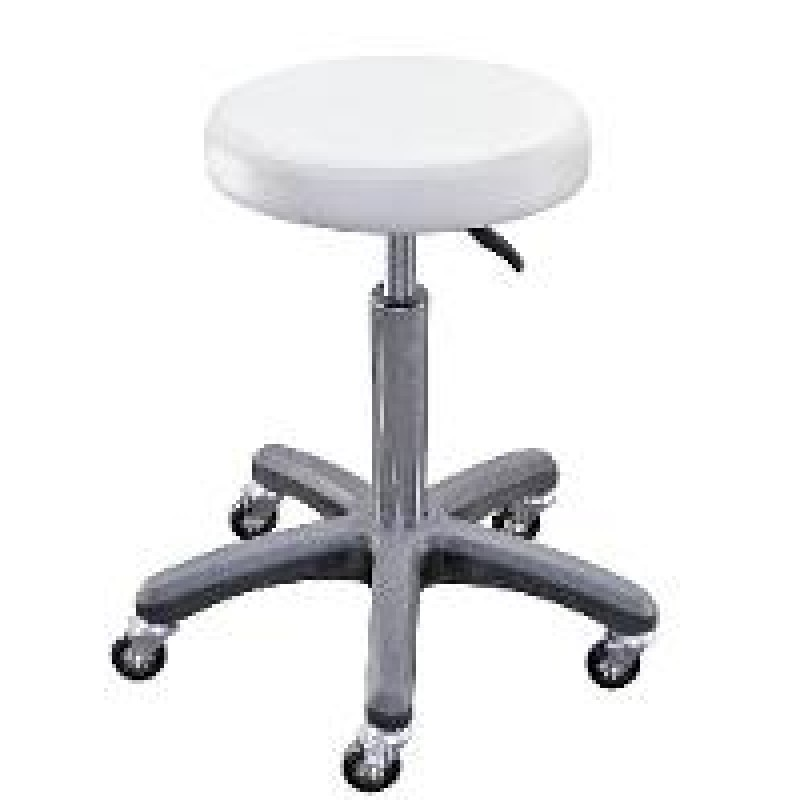White Salon Stool Chair Hydraulic Adjustable Barber Stool