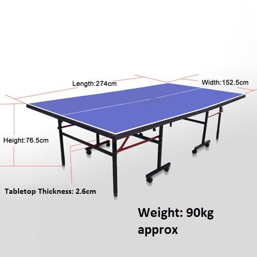Table tennis dimensions