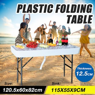 115cm Chill Amp Fill Party Ice Folding Table