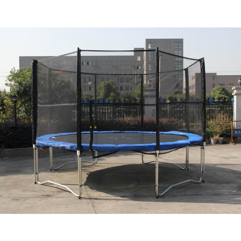 Airzone 14 Spring Trampoline And Enclosure Set: 12 Feet Outdoor Trampoline Enclosure Set With Safety Net