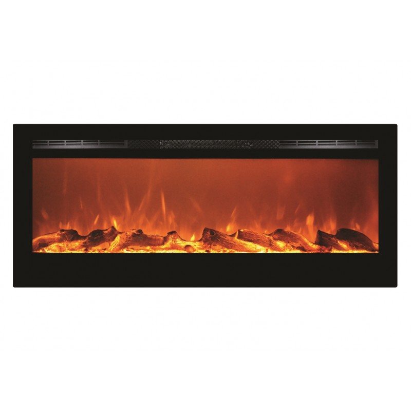 "Electric Sports Bike >> 50"" Black Built-in Recessed / Wall mounted Heater Electric Fireplace"
