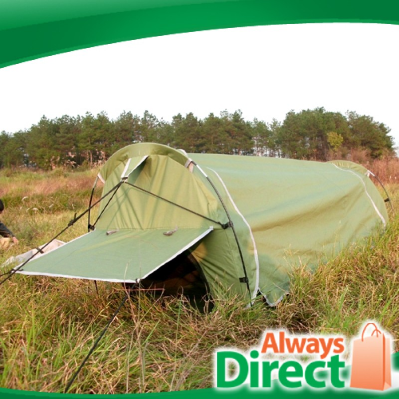 Single C&ing Deluxe Dome Canvas Swag Tent ... & canvas tents | camping tent | Single Camping Deluxe Dome Canvas ...