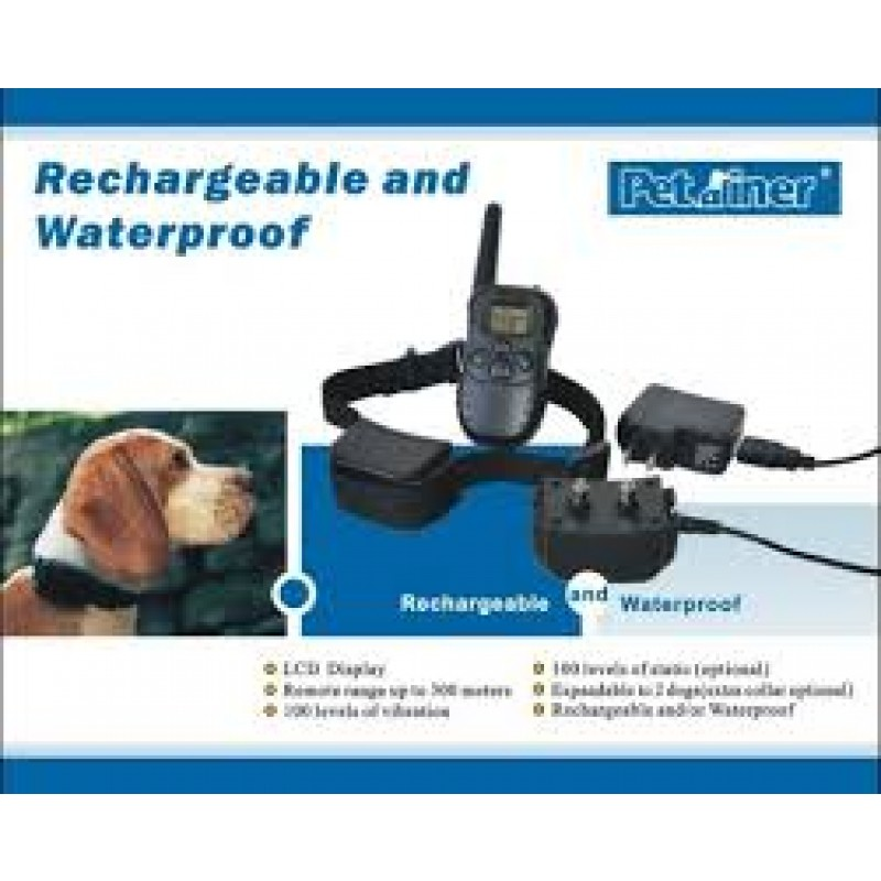 Rechargeable And Waterproof 100 Levels Dog Training Collar