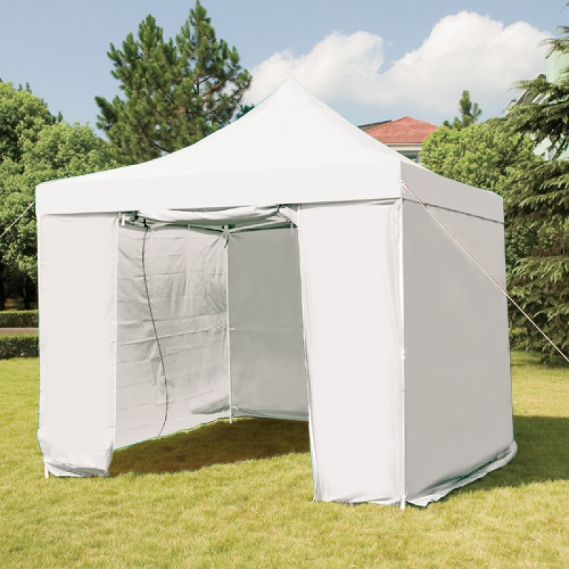 3mx3m Folding Gazebo Marquee Pop Up Outdoor Canopy White
