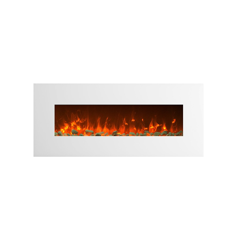 1500w 50 Quot White Wall Mounted Electric Fireplace Heater