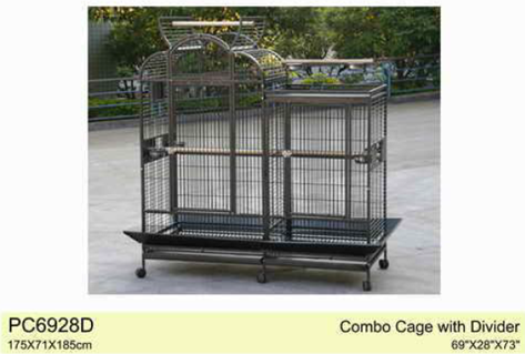 Deluxe Parrot Bird Combo Cage With Play Top Xxl