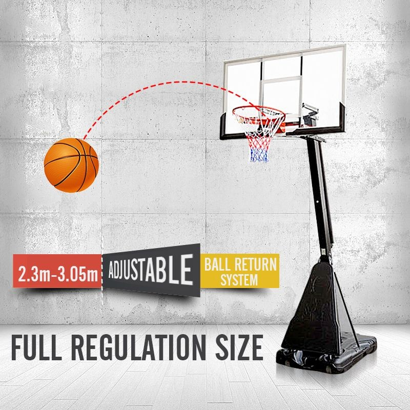 54 Inch Portable Basketball Ring System Slam Dunk Height