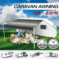 16ft x 8 ft Caravan Roll out Awning Annex Aluminium Construction Complete Pack