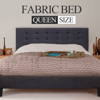 Fabric Bed Frame (Queen size, Charcoal color) CB03