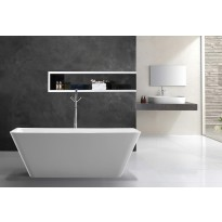 Bathroom Acrylic Free Standing Bath Tub Thin Edge 1700 x 750 x 600mm Freestanding (7102)