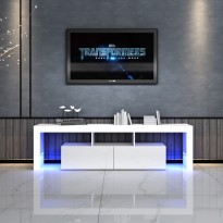 Modern LED TV Cabinet Entertainment Unit Stand High Gloss Furniture 1600mm White