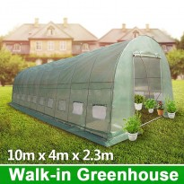 10m x 4m Galvanised Frame Walk-in Polytunnel Greenhouse (Pre-order QLD stock)