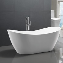 Bathroom Acrylic Free Standing Bath Tub Thin Edge 1720x760x780mm Freestanding (Tender & Curve) 7115