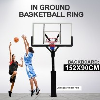 60 inch Professional In ground Basketball Slam Dunk System