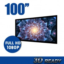 "100"" TV Cinema HD Projector Screen Flat Fixed Frame 16:9"