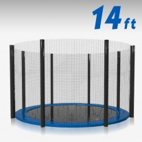 Trampoline Replacement Safety Net 14FT Netting Enclosure 8 Poles