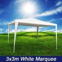 3x3m White PE Easy Up Outdoor Party Market Gazebo Marquee Canopy Tent