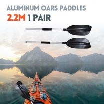 Premium 220cm Aluminum Adjustable Kayak Canoe Paddle Split Shaft