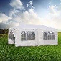 Gazebo Outdoor Marquee Party Tent 3m x 6m White Cooper