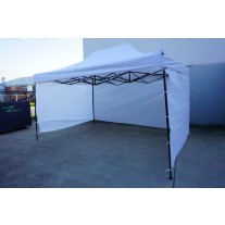 3X4.5M Folding Gazebo Outdoor Marquee Pop Up Nay White 3 sided wall