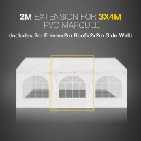 2M Marquee Extension for 3x4M Gazebo Heavy Duty Party Tent PVC