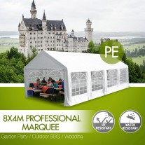 Classic Commercial Grade Wedding Marquee 8x4m Heavy Duty Classic Party Tent (Pre-order Sydney Stock)