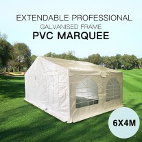 """Pre-order"" Premium Galvanized 6x4M Marquee Gazebo Heavy Duty Party Tent PVC Series"