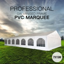 7x15m Premier Grade Galvanised Frame PVC Fabric Marquee Heavy Duty Party Tent