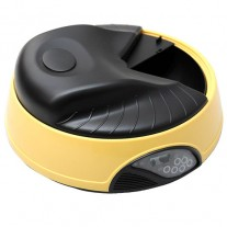 Automatic Animal Pet Feeder Auto Bowl for Dog Cat Rabbit PF-05A YELLOW