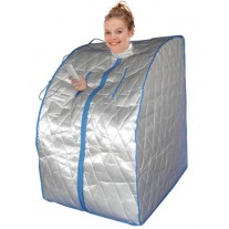 """Pre-order"" Portable Far Infrared One Person Home Sauna with Foot Heating Pad and Portable Chair"