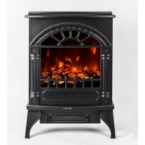 "16"" Free Standing Electric Fireplace Heater 02"