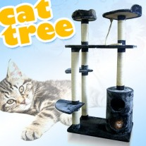 151CM Cat Tree Kitten Scratching Post 6 Level With Condos Sisal Poles
