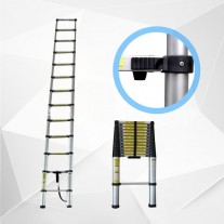 380cm Telescopic Ladder Aluminium Retractable Holds 150kg