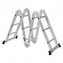 475cm Adjustable Aluminium Extension Multipurpose Ladder Holds 150kg