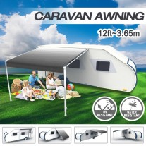 12ft x8ft Caravan Roll out Awning Annex Aluminium Construction Complete Pack