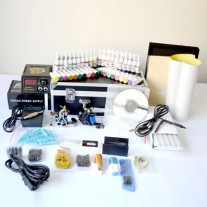 Complete Tattoo Kit 2 Machine Gun w Power Supply 40 Ink RRP$750