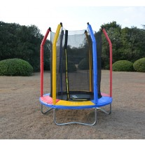 6ft Rainbow Mini Trampoline & Enclosure Set For Indoor and Outdoor