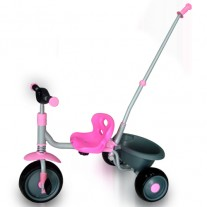 Kids Tricycle With Parental Control and Bucket Pink (clearance 70% off)