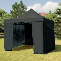 3X3M Folding Gazebo Marquee Pop Up Outdoor Shade Canopy Black