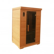 2 Person Luxury Indoor Carbon Fibre Infrared Sauna 7 Panels 002B