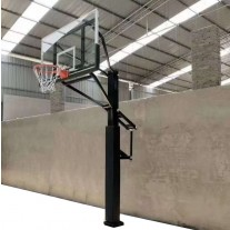 NEW MODEL 72 inch Professional In-ground Basketball System with Hoop Tempered Glass Backboard