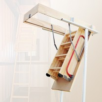 Pine Wood Attic Loft Ladder 2200mm to 2700mm
