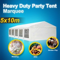 Commercial Grade Heavy Duty Galvanised Frame 5x10m Party Tent Wedding Marquee