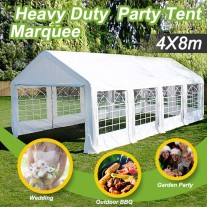 Commercial Grade Galvanised Frame Marquee 8x4m Heavy Duty Classic Party Tent